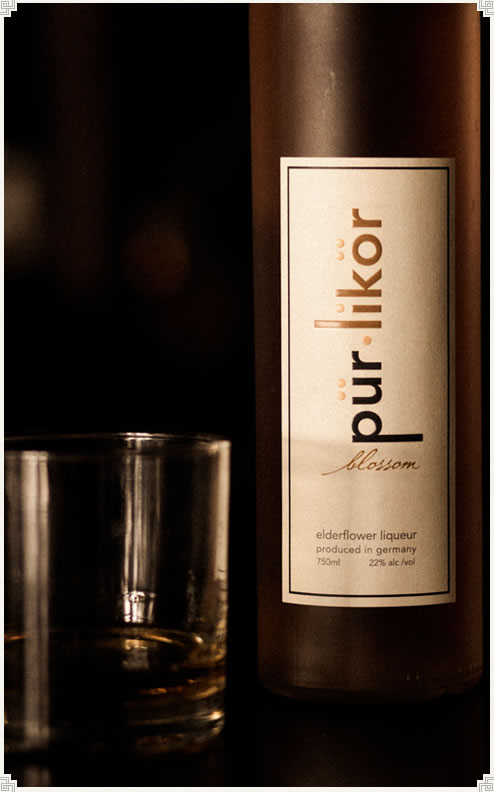 pür•likör blossom - authentic elderflower liqueur